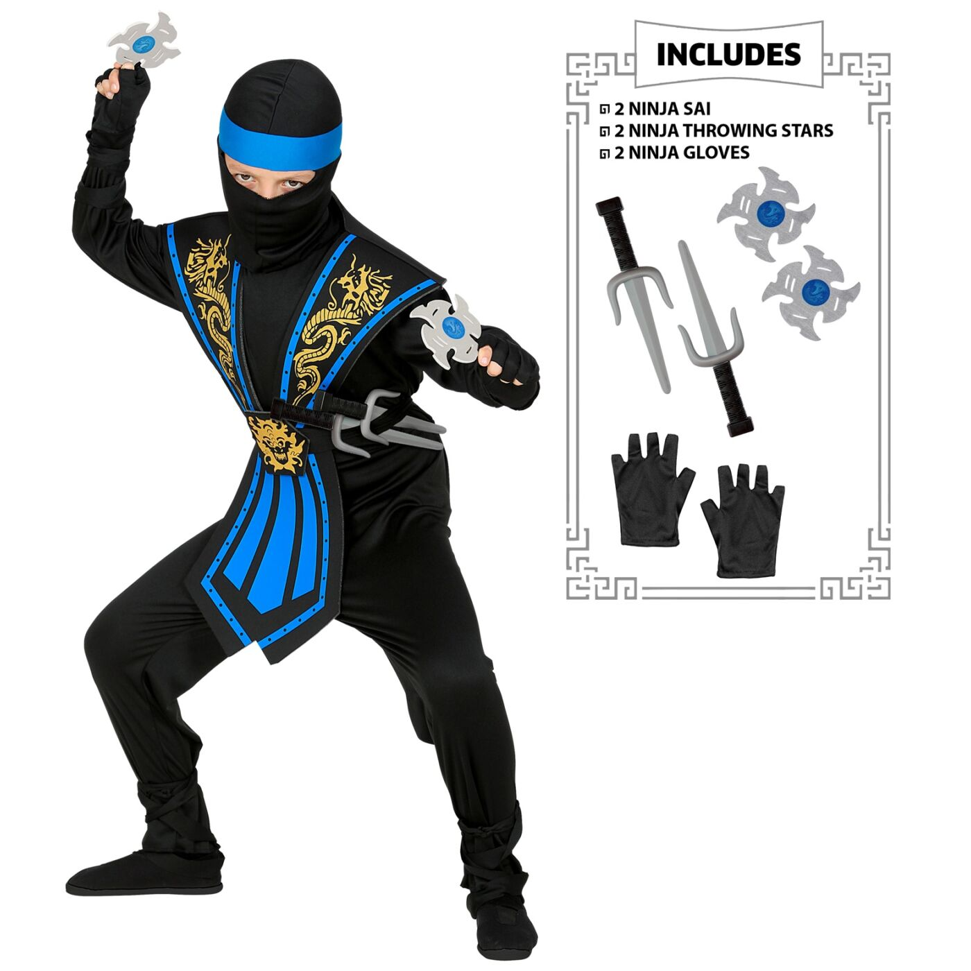 Kombat ninja jelmez 128-as