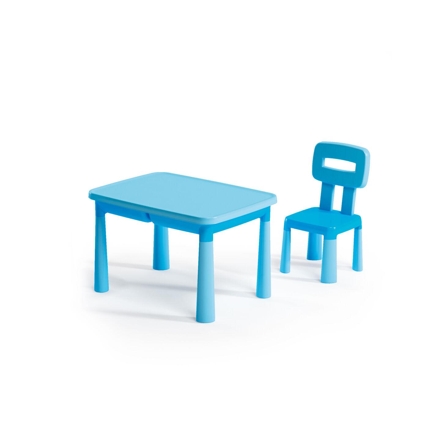 Műanyag gyermekasztal+szék kék