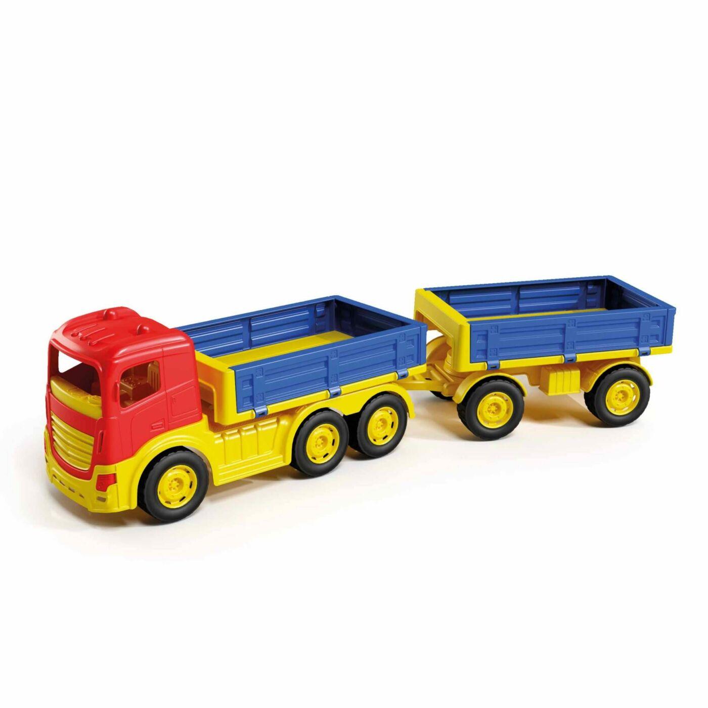 Utánfutós teherautó