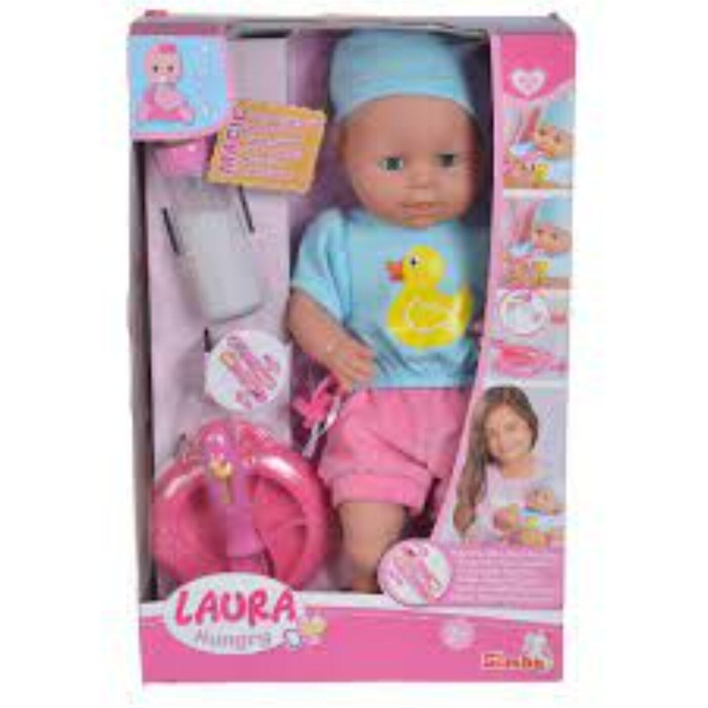 Laura etethető játékbaba