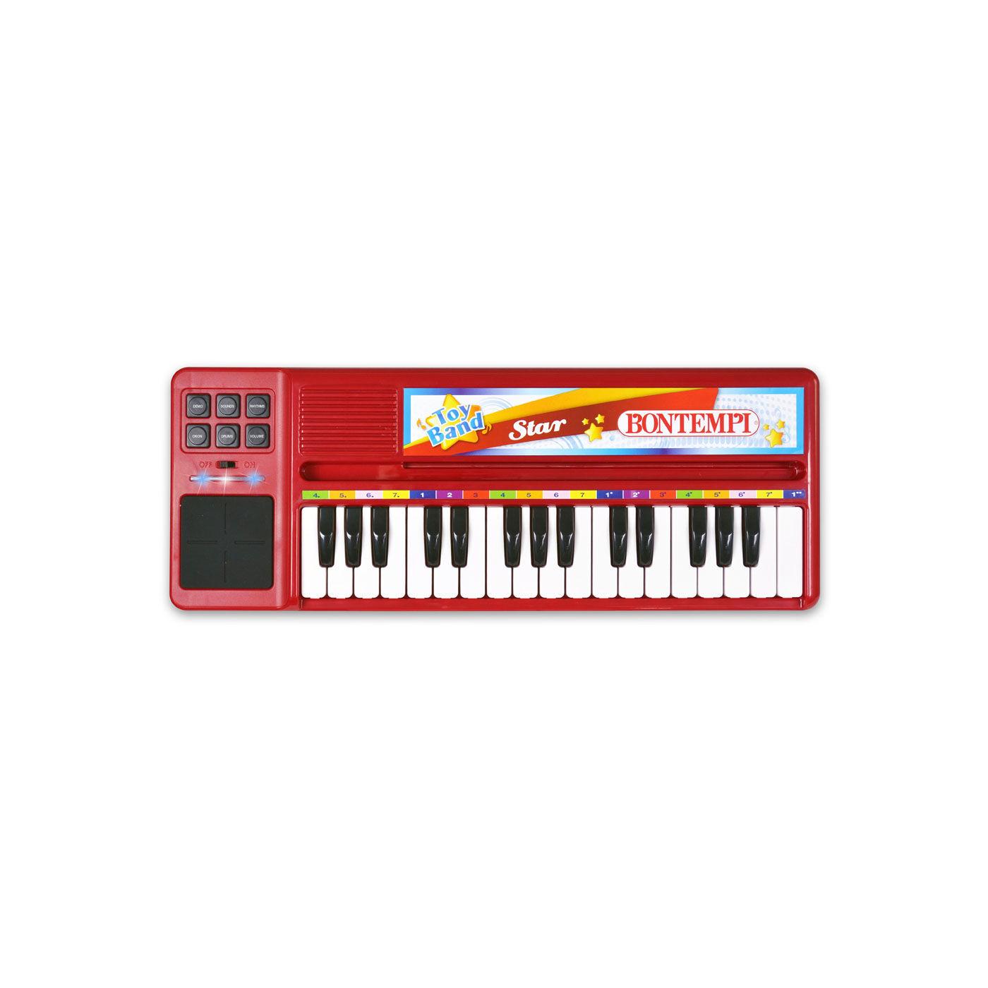Bontempi elektromos szintetizátor piros