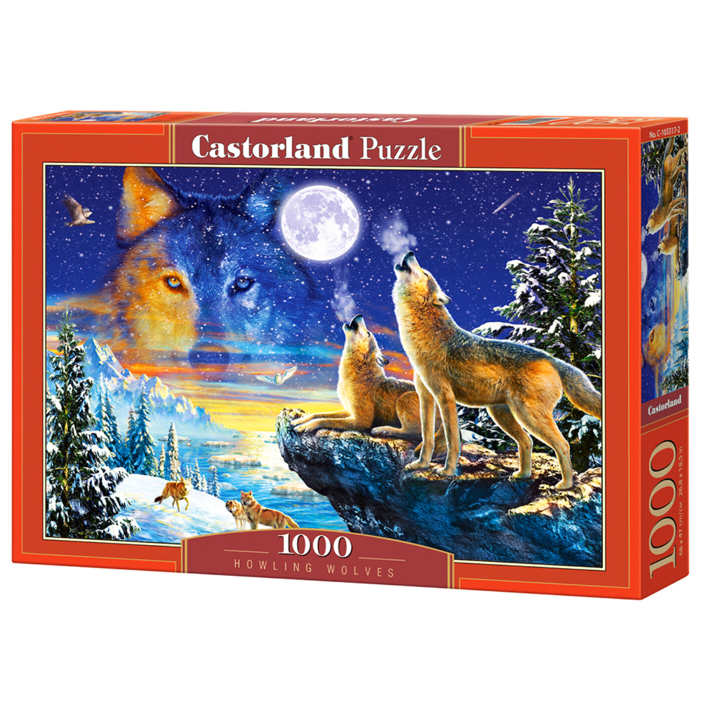 1000 db-os Castorland puzzle - Ordító farkasok