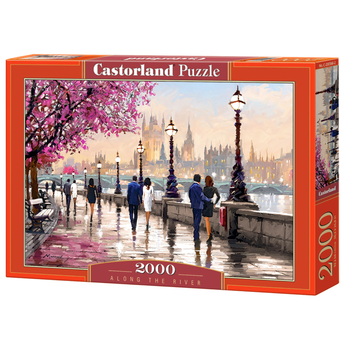 2000 db-os puzzle - Séta a folyó mentén