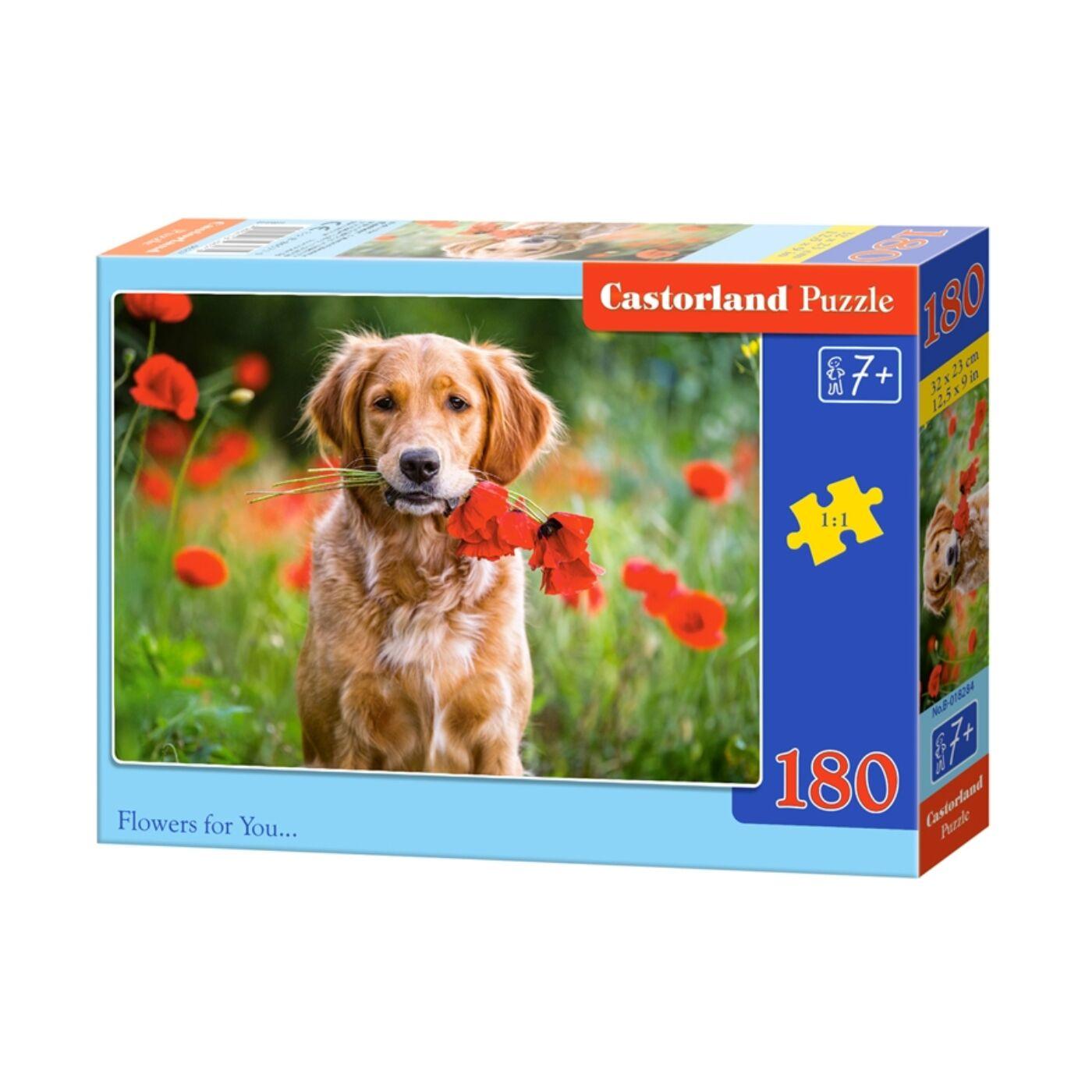 180 db-os Castorland puzzle - Virágok neked