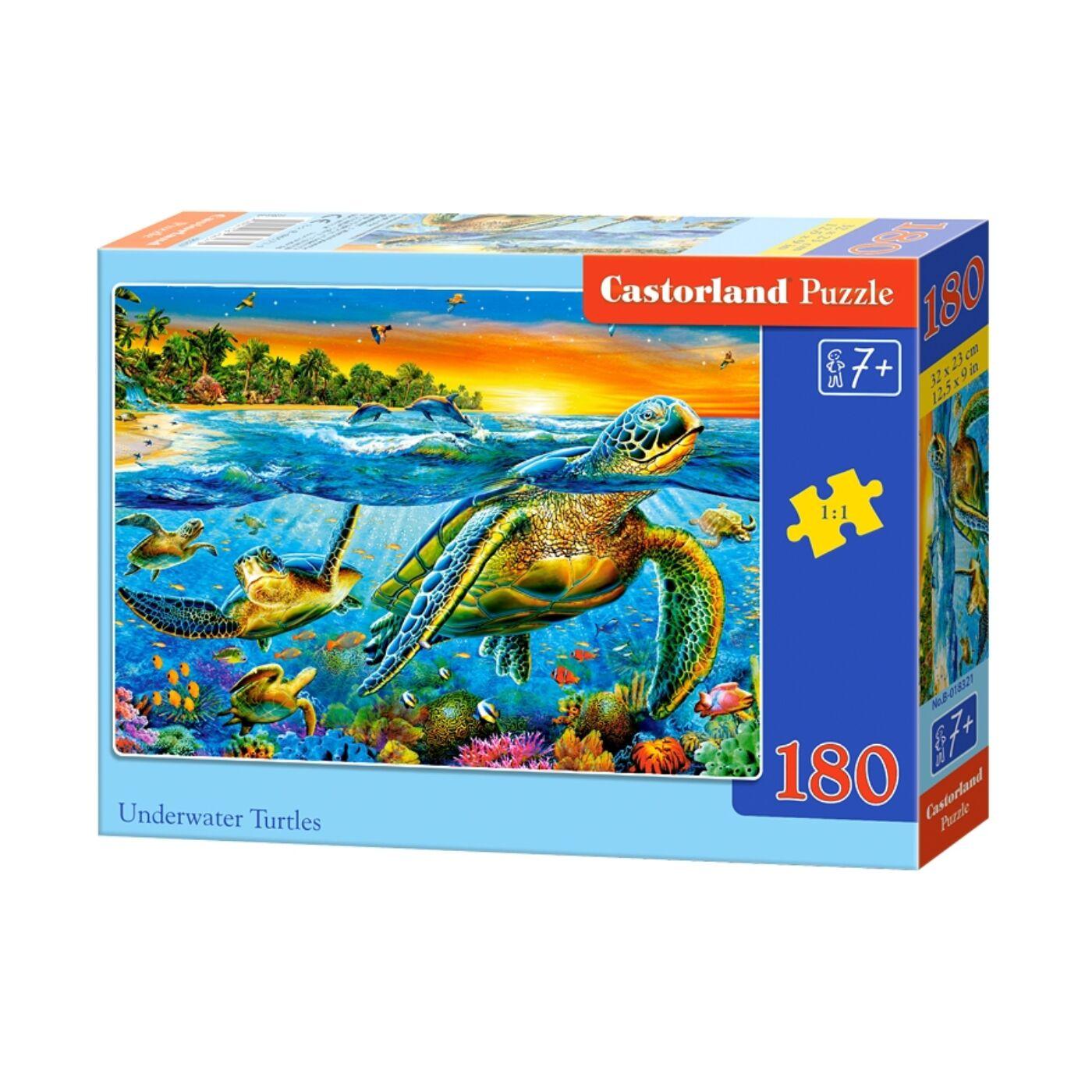 180 db-osCastorland puzzle - Vízalatti teknősök