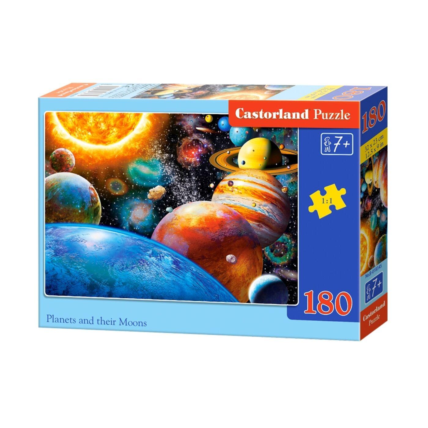 180 db-os Castorland puzzle - Bolygók és holdjaik