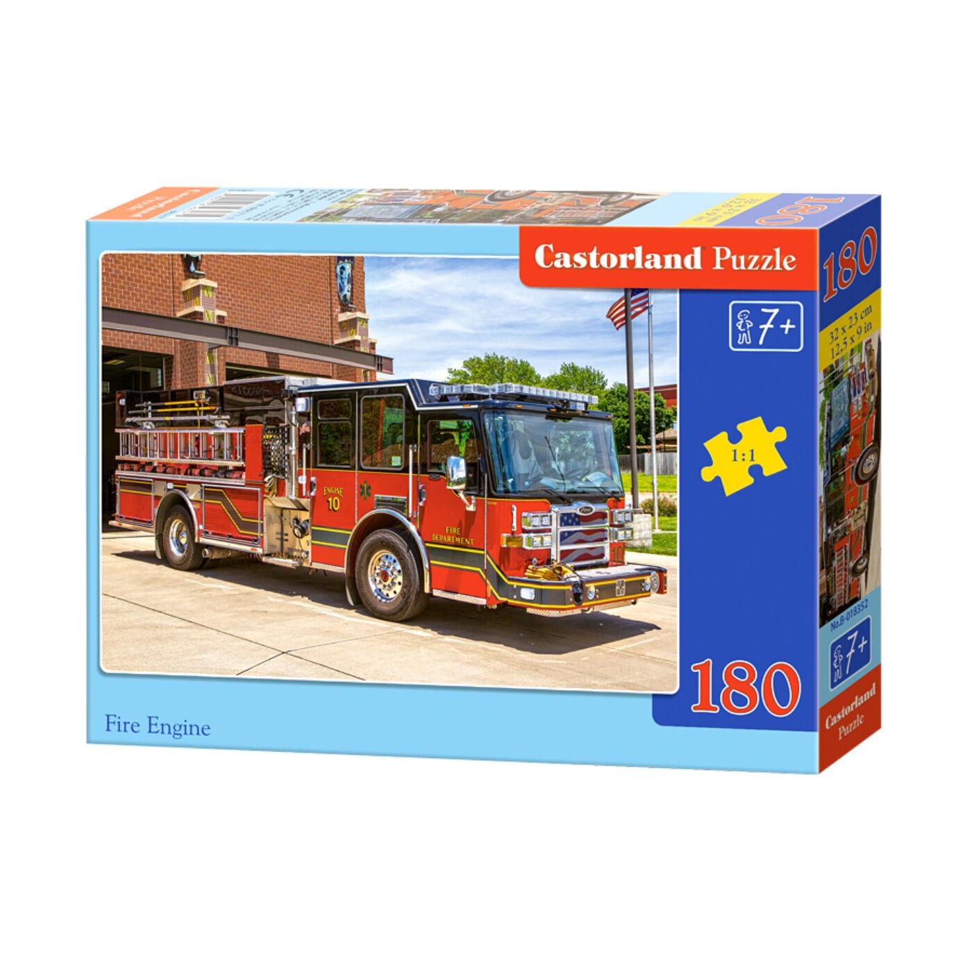 180 db-os Castorland puzzle - Tűzoltóautó