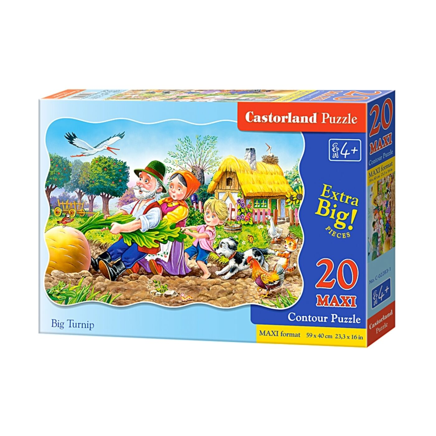 20 db-os maxi puzzle - A nagy répa