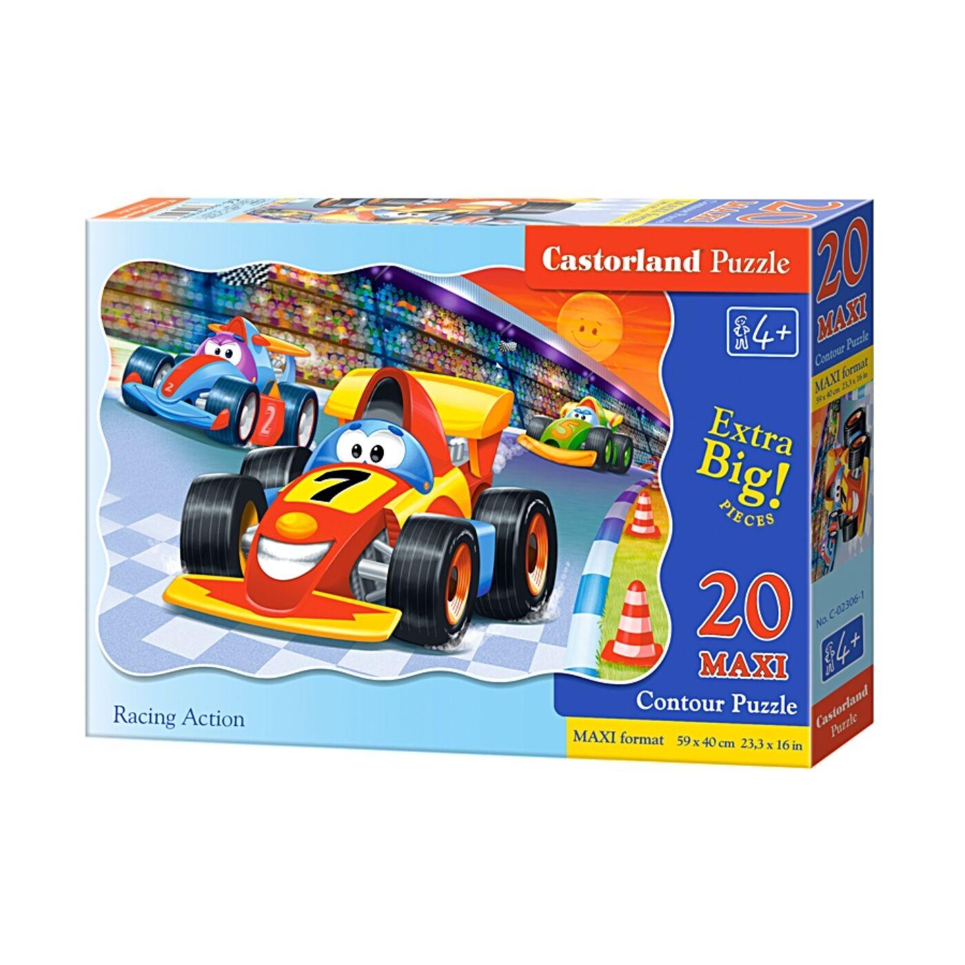 20 db-os maxi puzzle - Autóverseny
