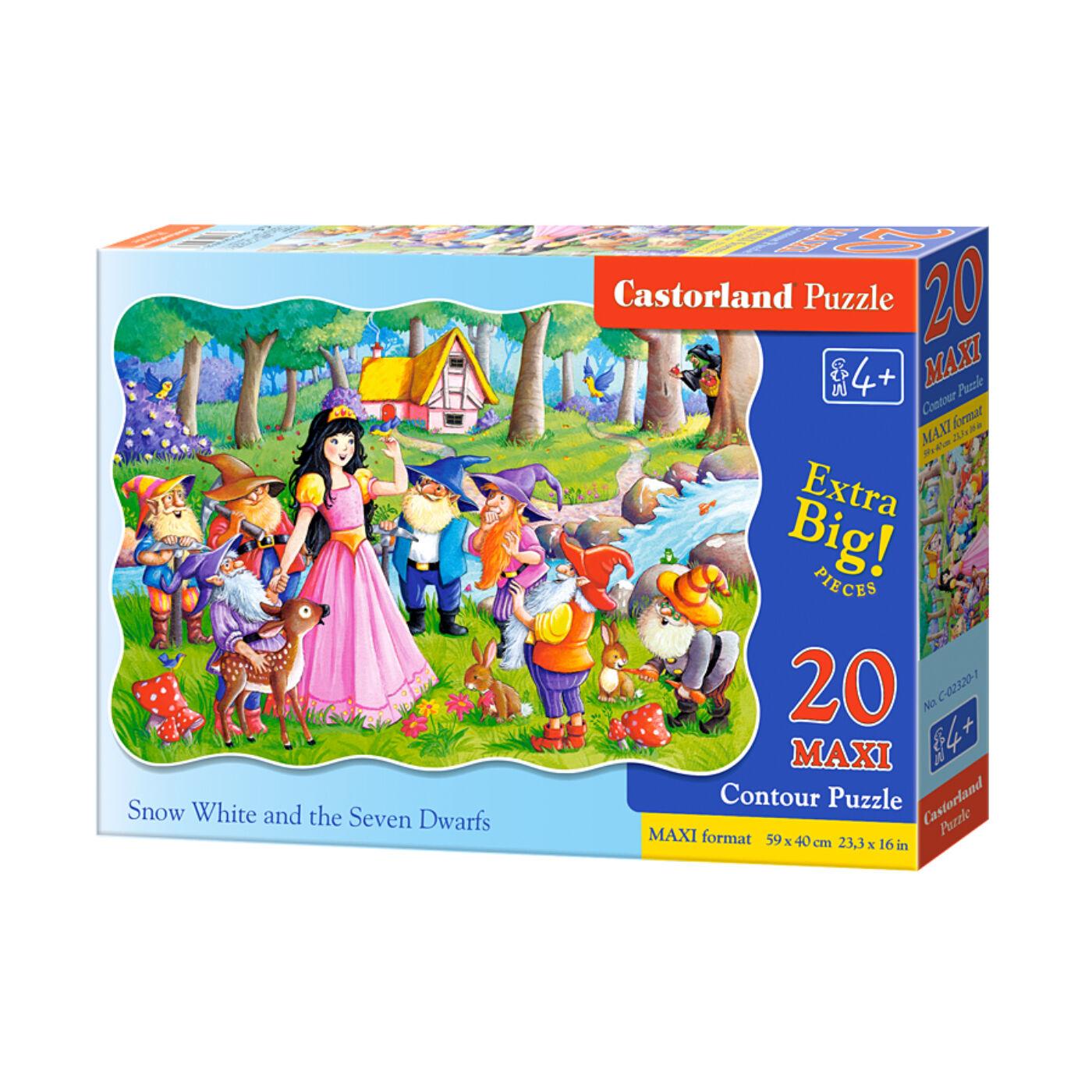 20 db-os maxi puzzle - Hófehérke és a hét törpe