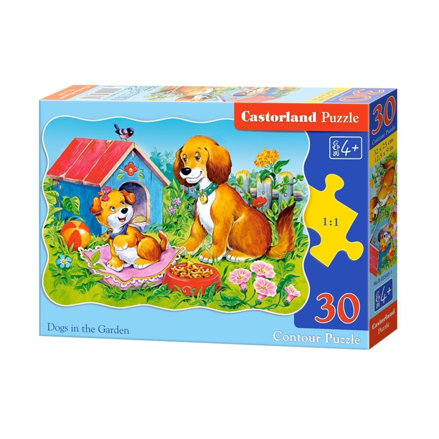 30 db-os puzzle - Kutyák a kertben