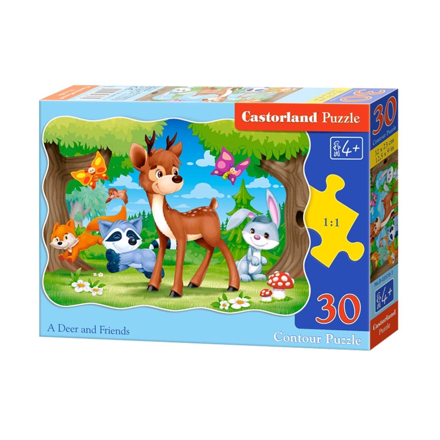 30 db-os puzzle - Őzike és barátai