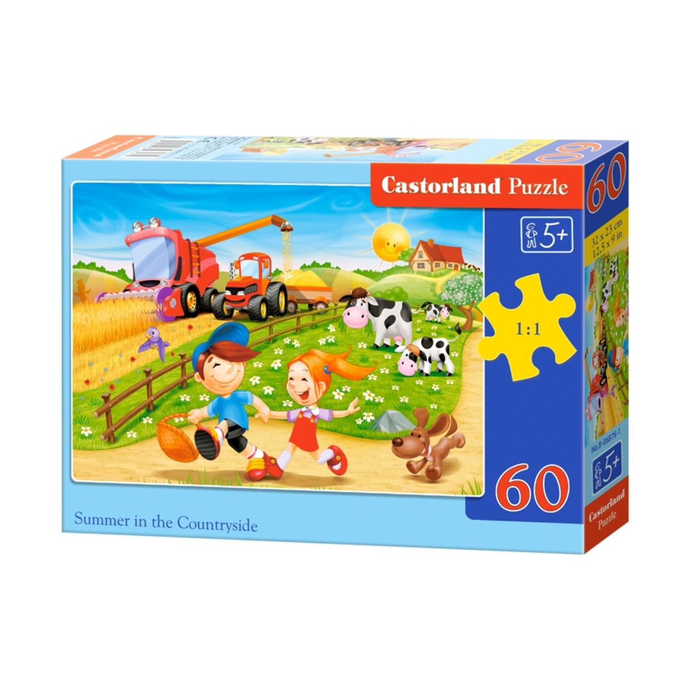 60 db-os puzzle - Nyár a falun