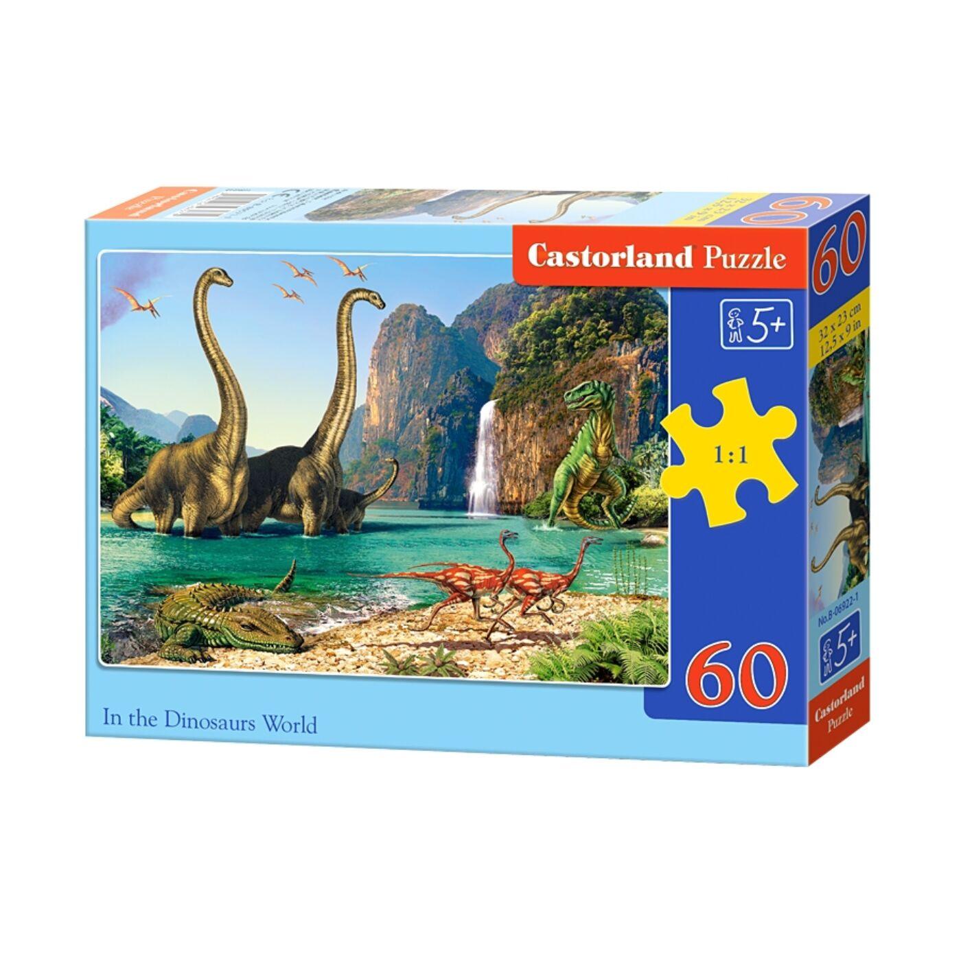 60 db-os puzzle - Dinoszauruszok világa