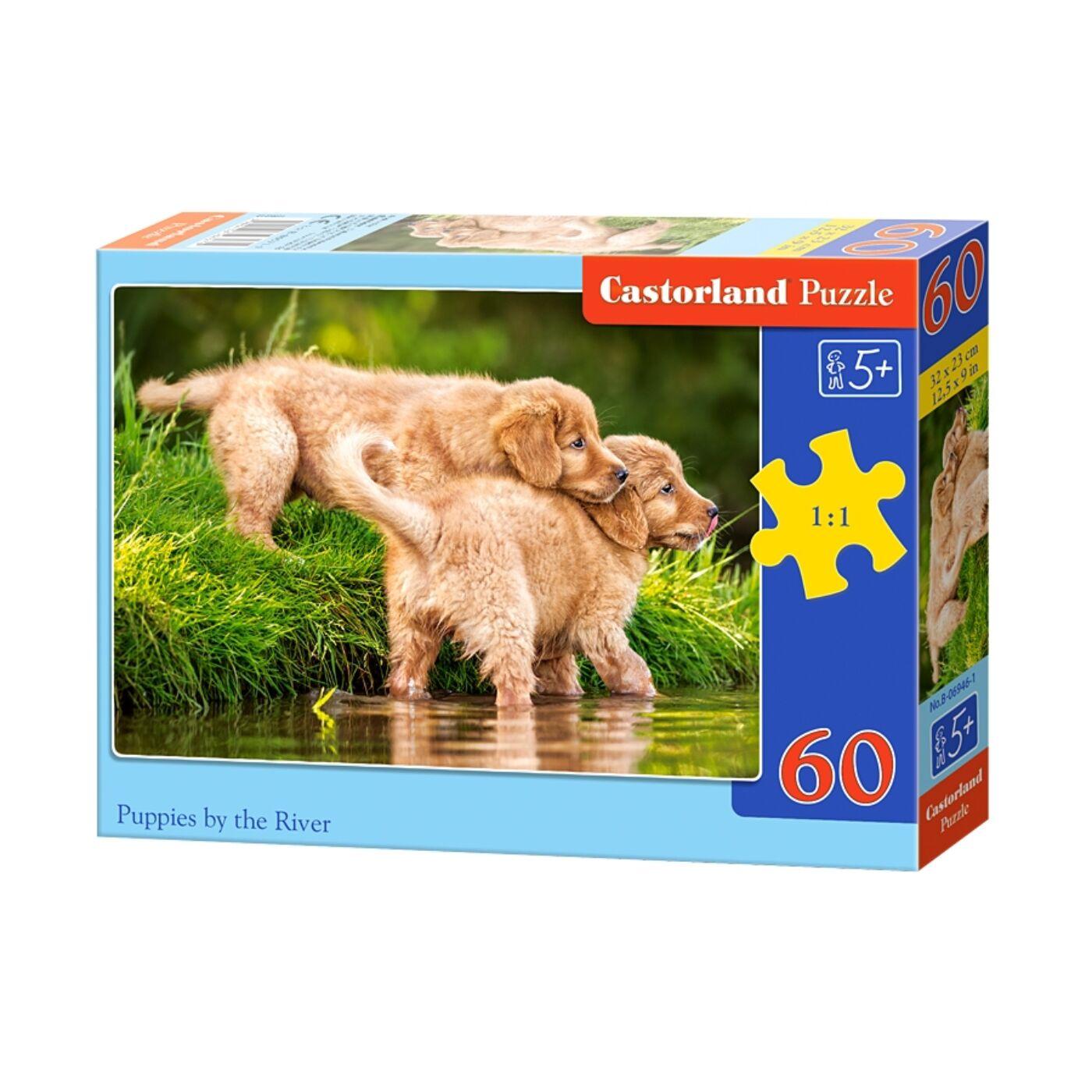 60 db-os puzzle - Kölykök a folyóban