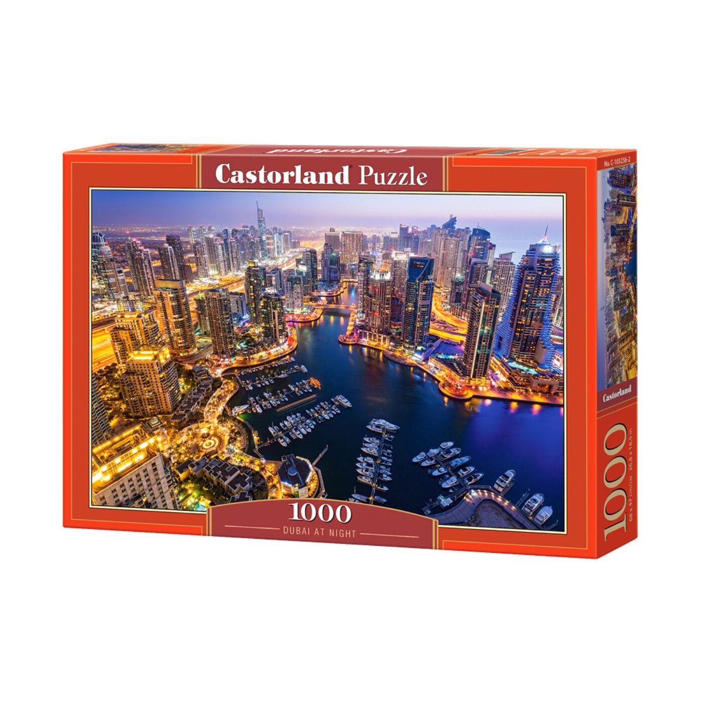 1000 db-os Castorland Puzzle - Éjszaka Dubajban