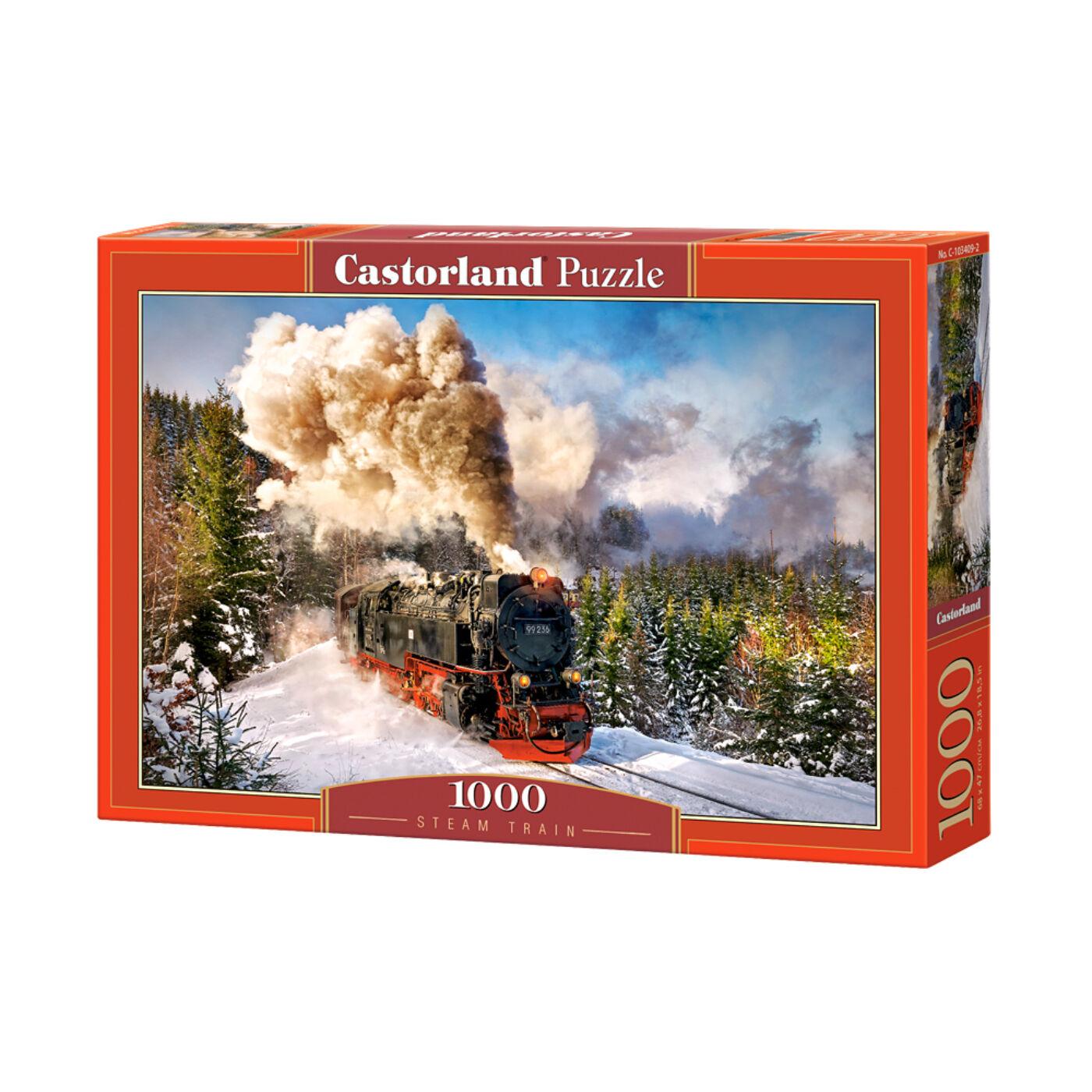 1000 db-os Castorland Puzzle - Gőzvonat