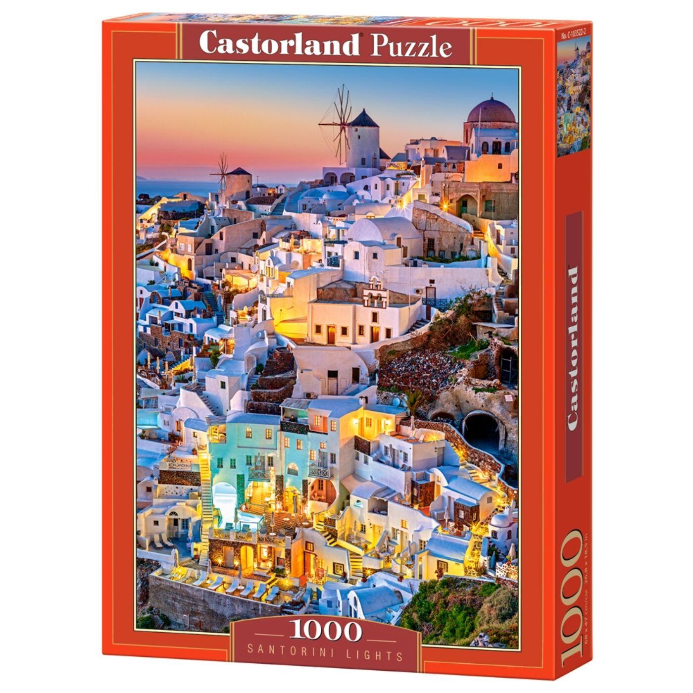 1000 db-os Castorland Puzzle - Santorini fények