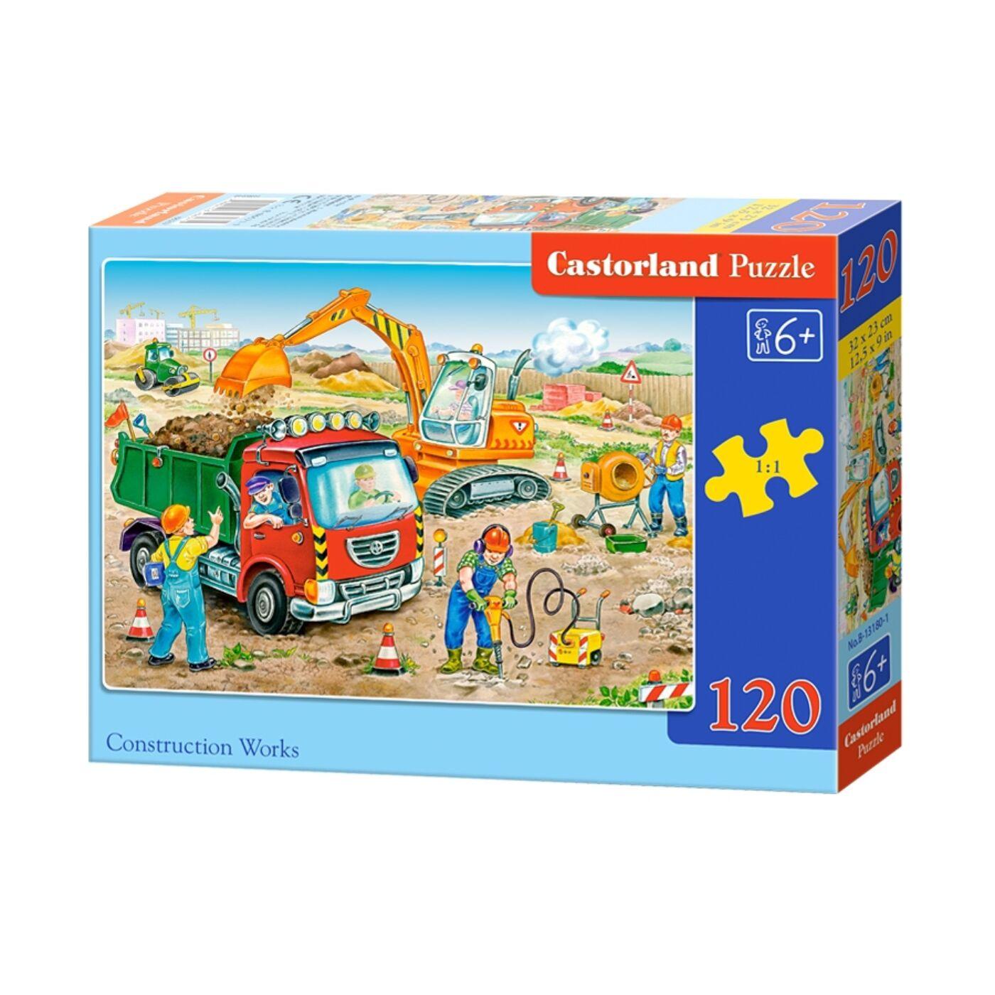 120 db-os Castorland Puzzle - Építkezési munkálatok