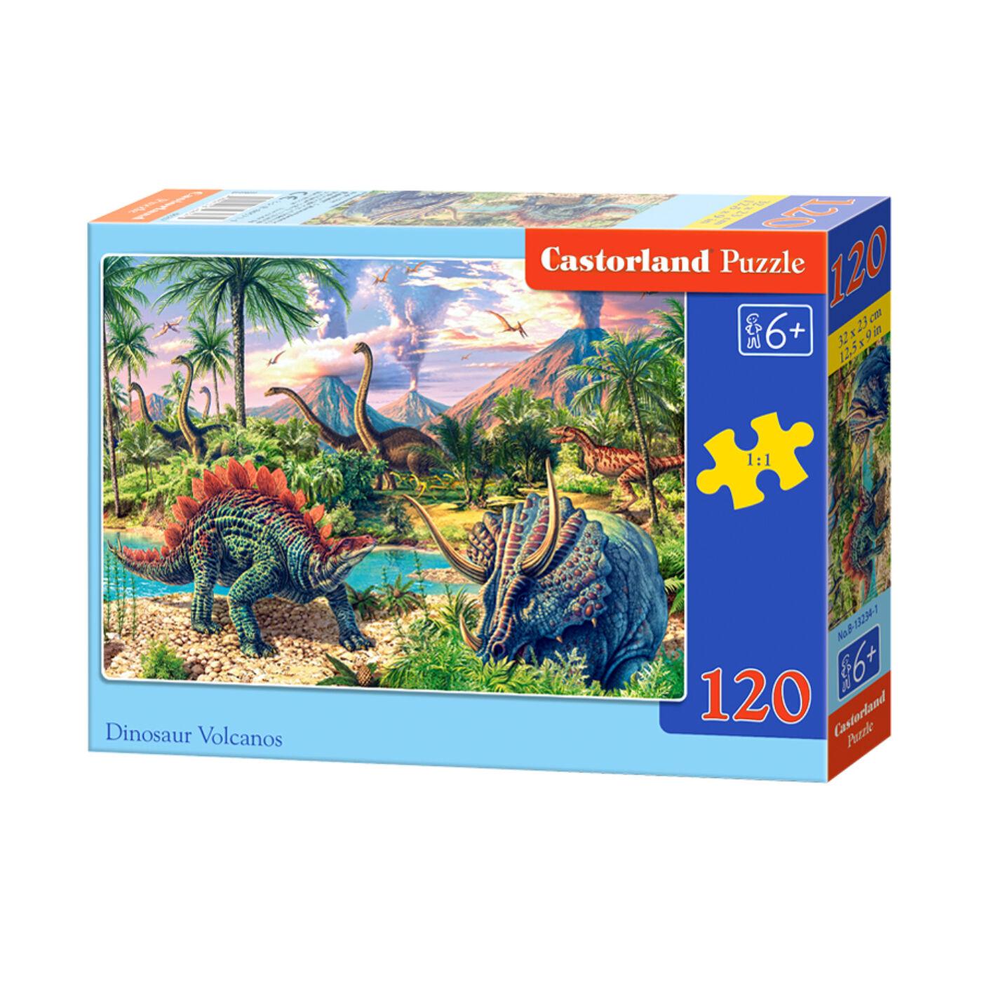120 db-os Castorland Puzzle - Dinoszauruszok a vulkánnál