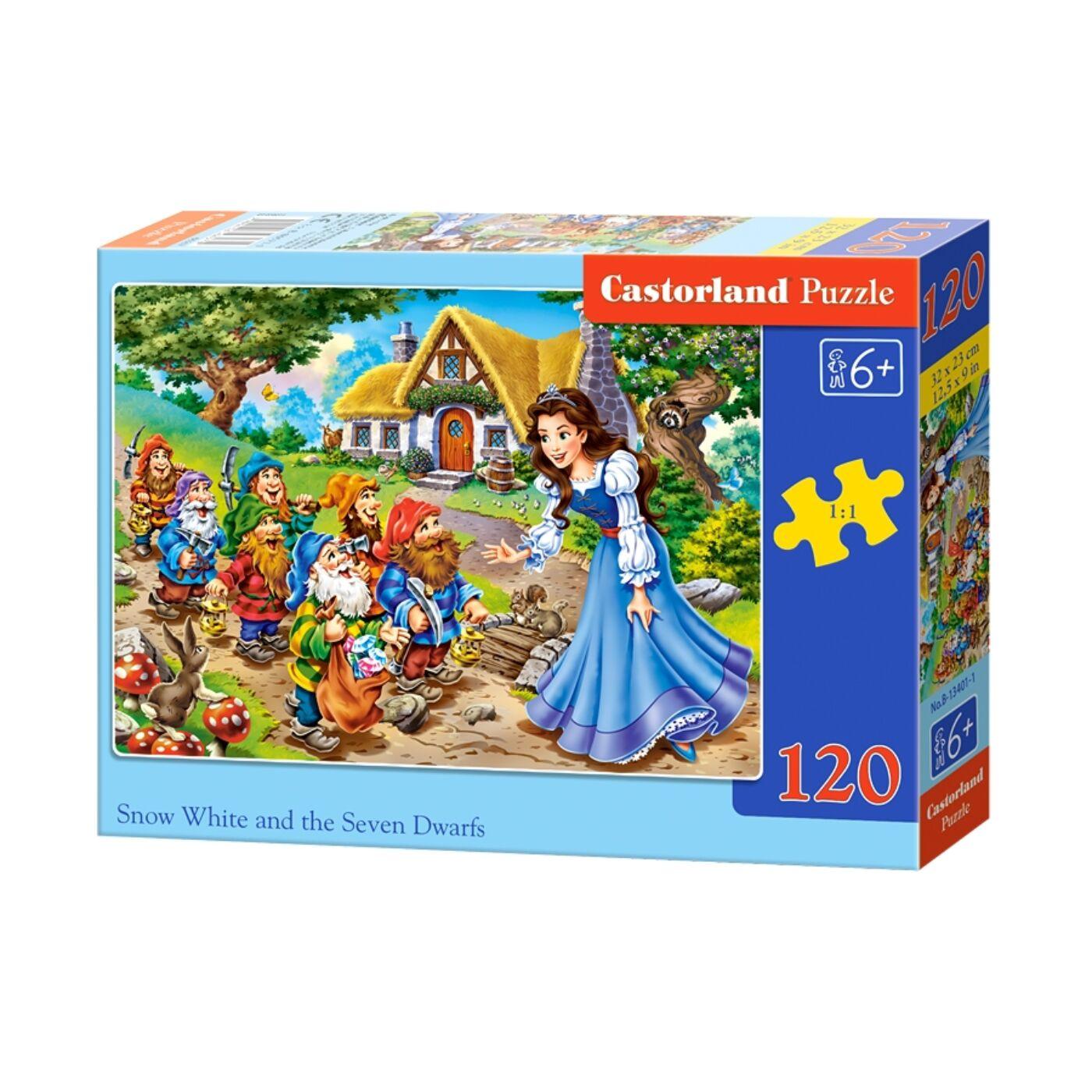 120 db-os Castorland puzzle - Hófehérke és a hét törpe