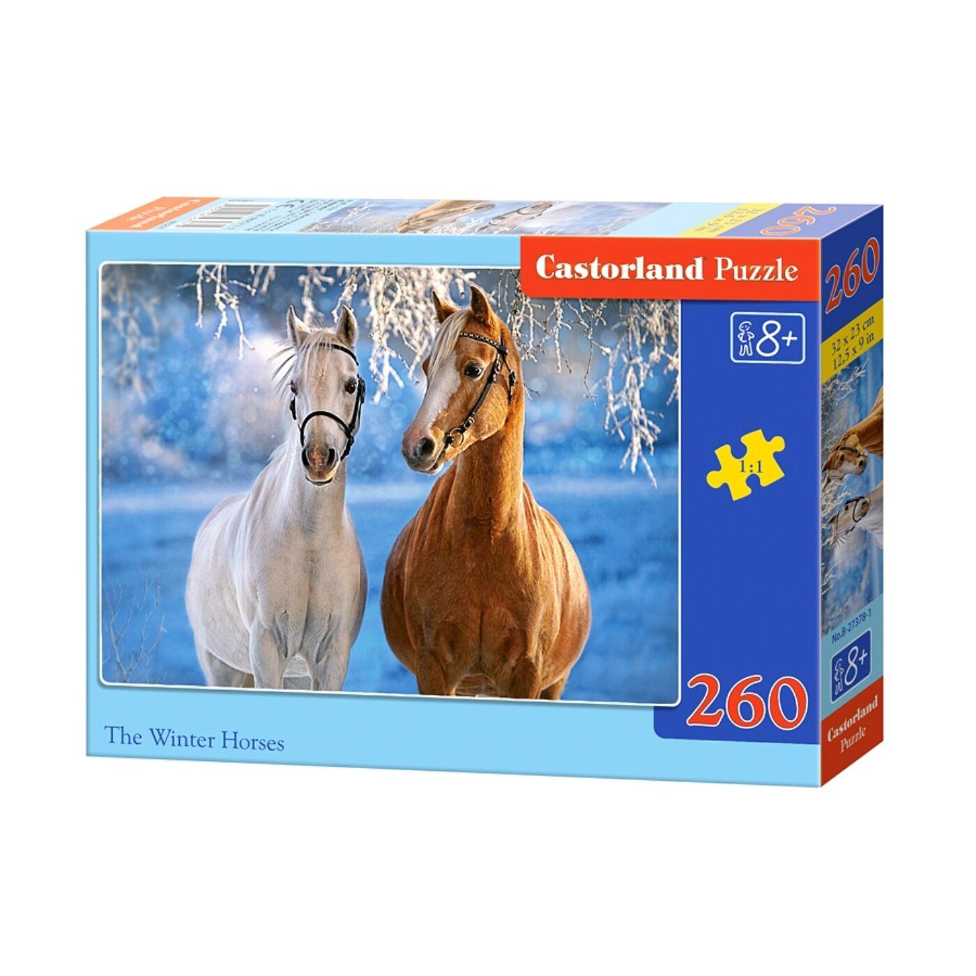 260 db-os puzzle - Téli lovak