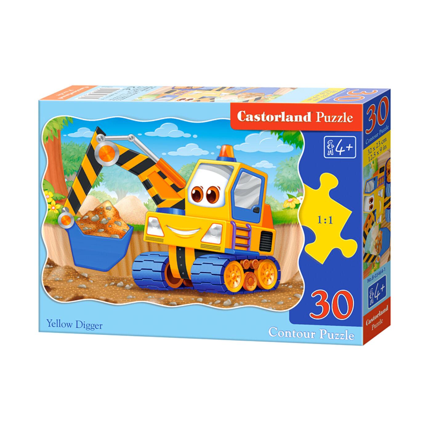 30 db-os puzzle - Sárga markoló