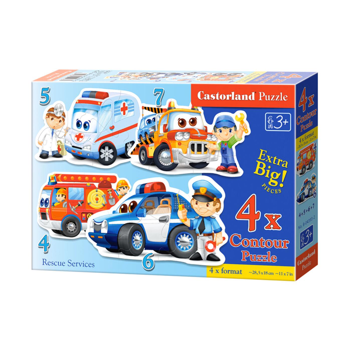 4 az 1-ben puzzle – Mentő járművek