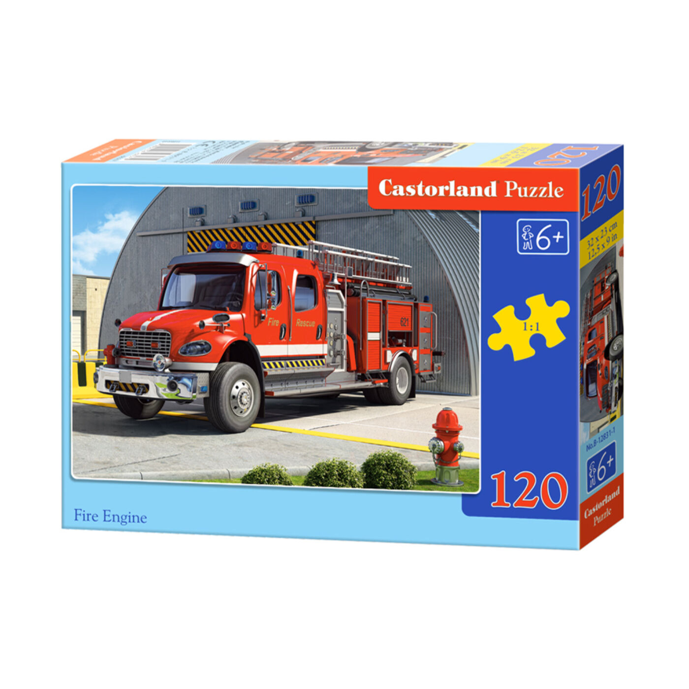 120 db-os Castorland Puzzle - Tűzoltóautó
