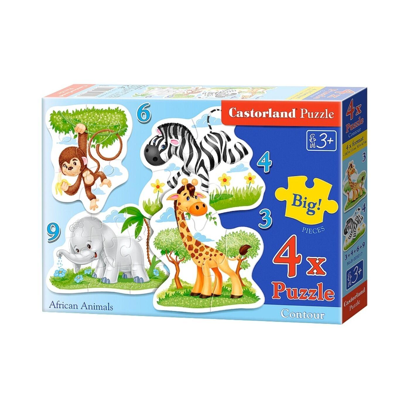 4 az 1-ben Castorland kirakó - Afrikai állatok