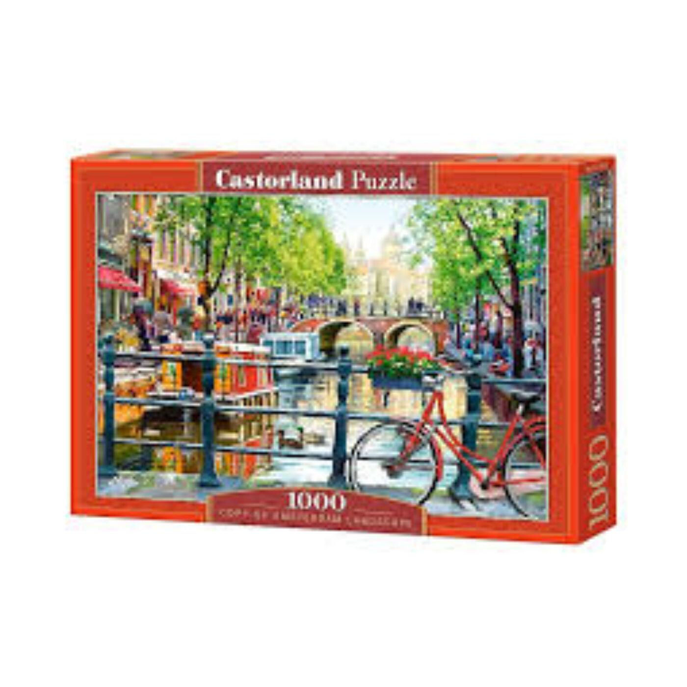 1000 db-os Castorland puzzle - Amsterdami látkép