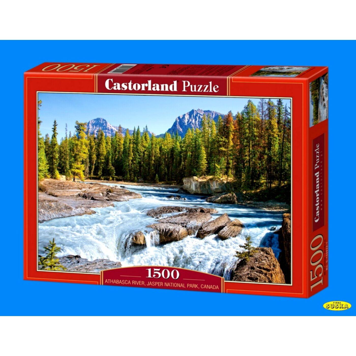 1500 db-os Puzzle – Athabasca folyó, Jasper Nemzeti Park, Kanada