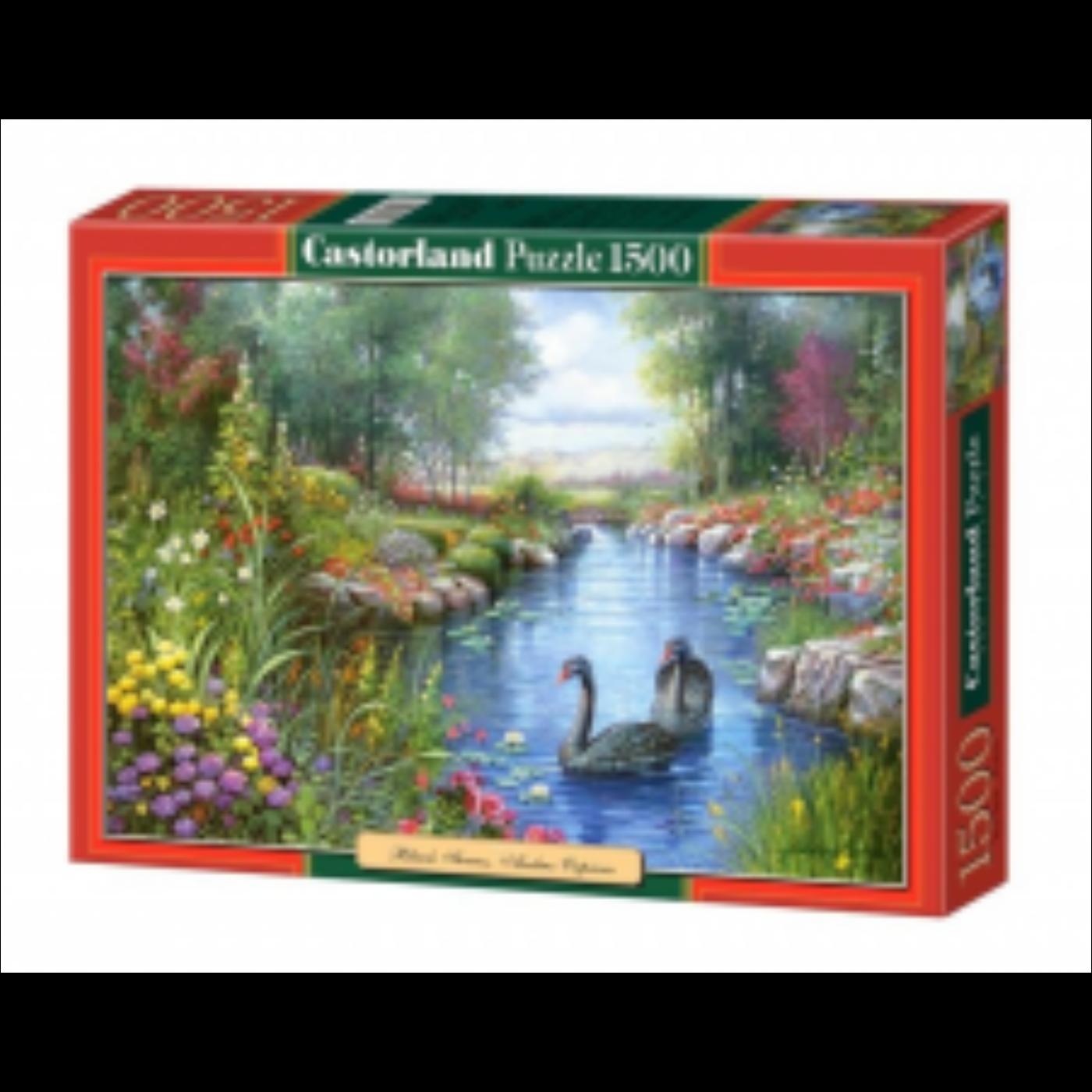 1500 db-os puzzle – Fekete hattyúk