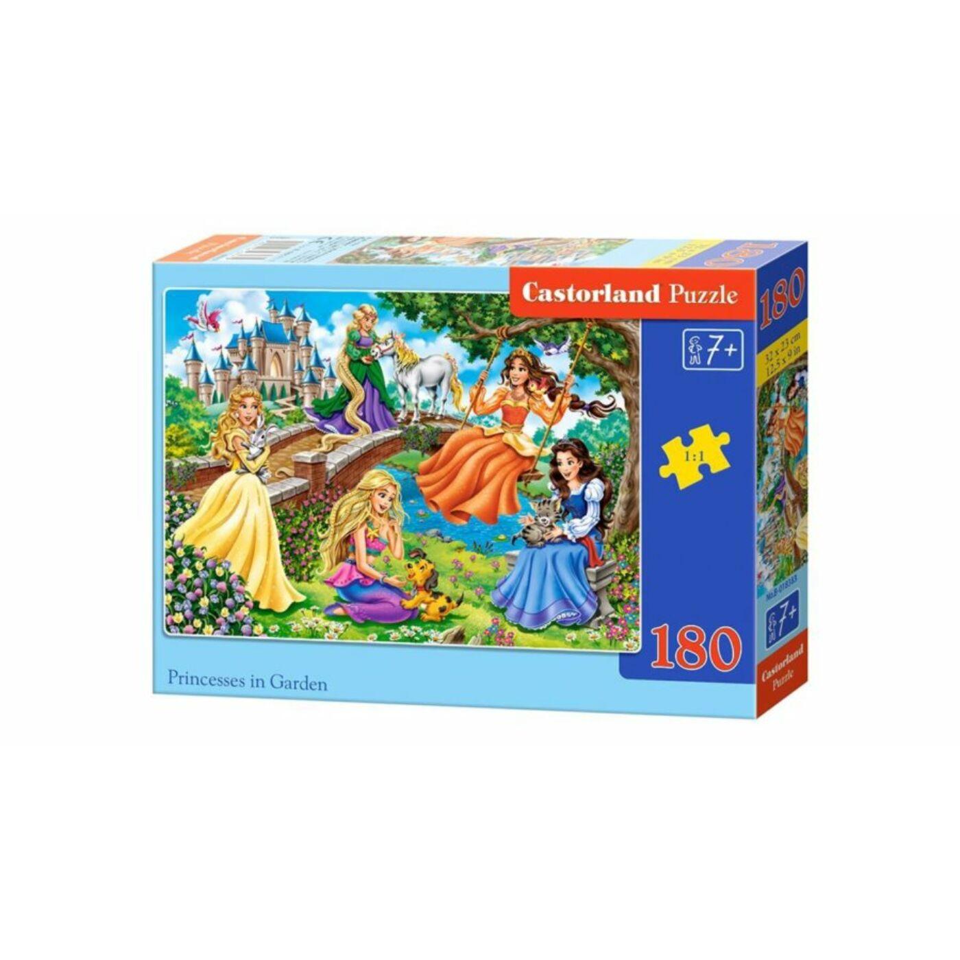 180 db-os Castorland puzzle - Hercegnők a kertben