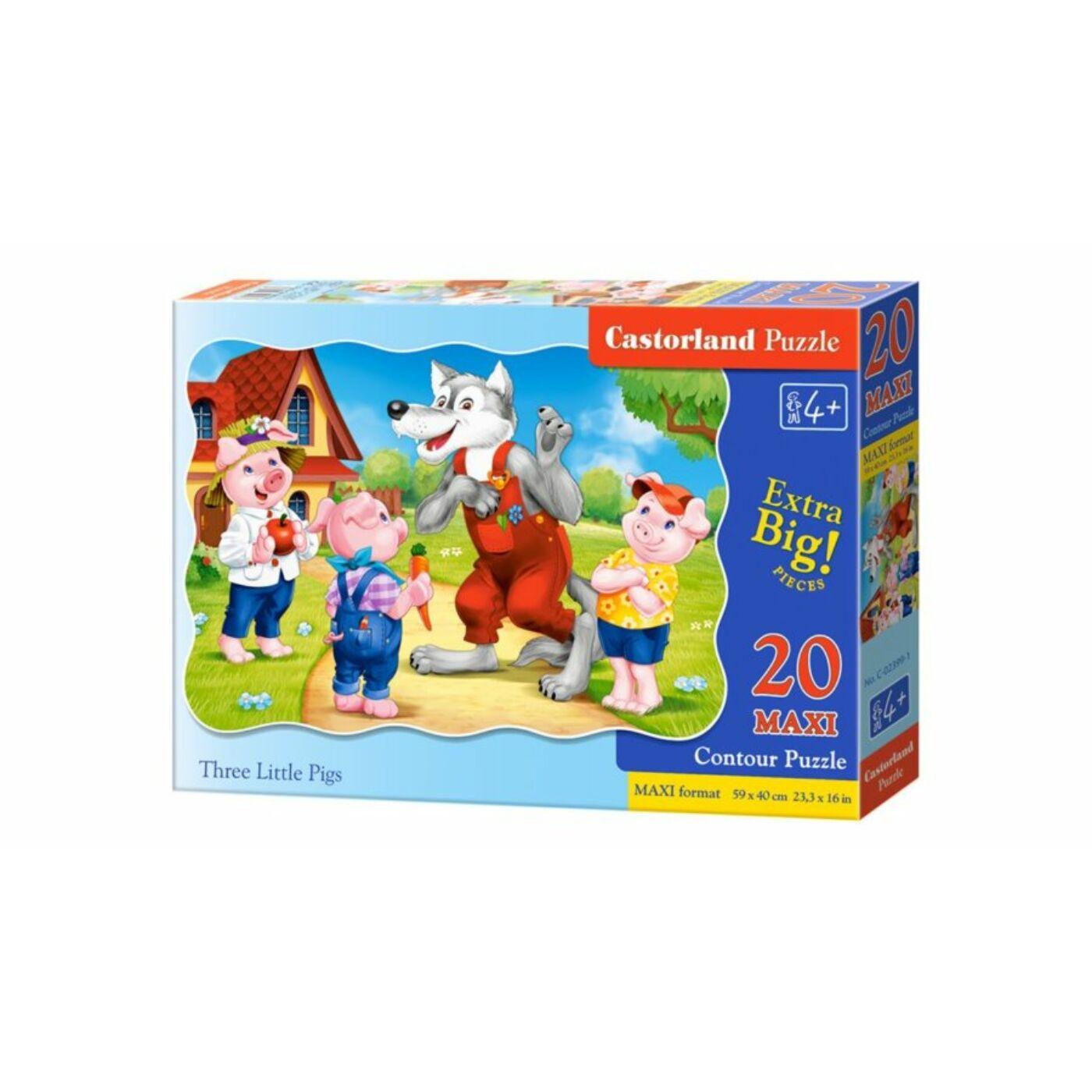 20 db-os puzzle – A három kismalac