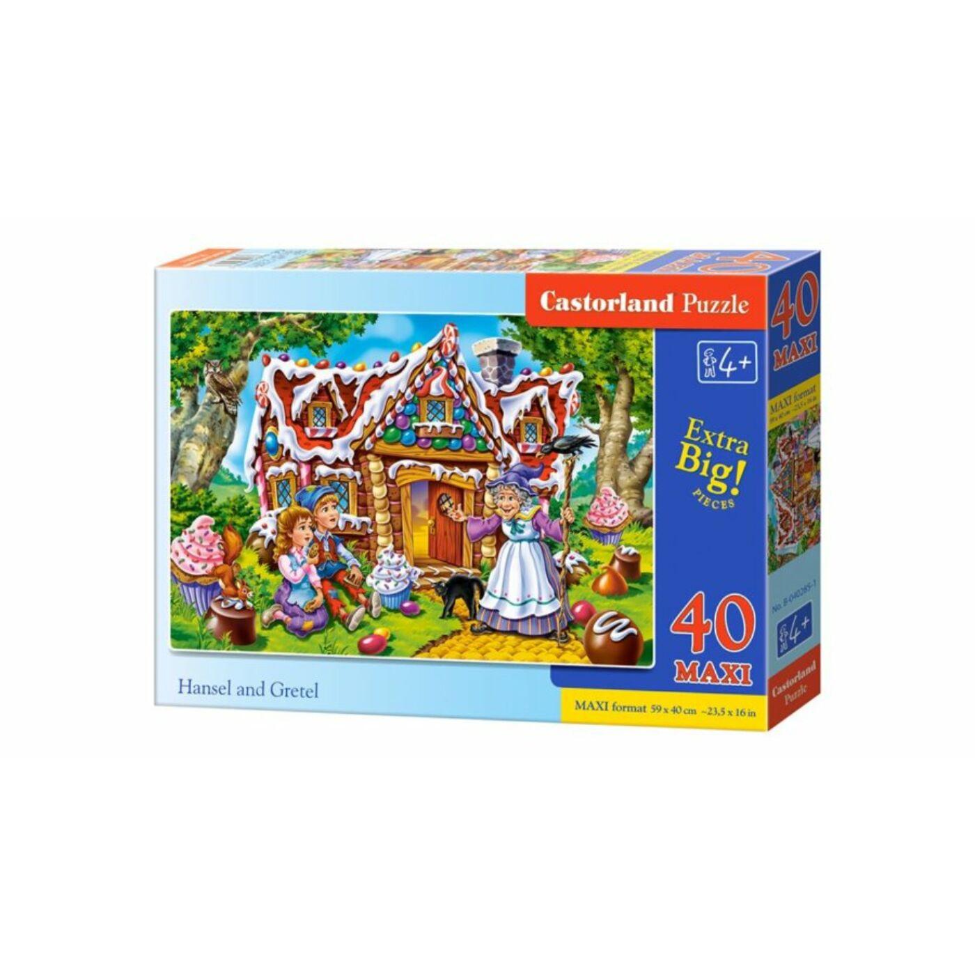 40 db-os Maxi puzzle – Jancsi és Juliska