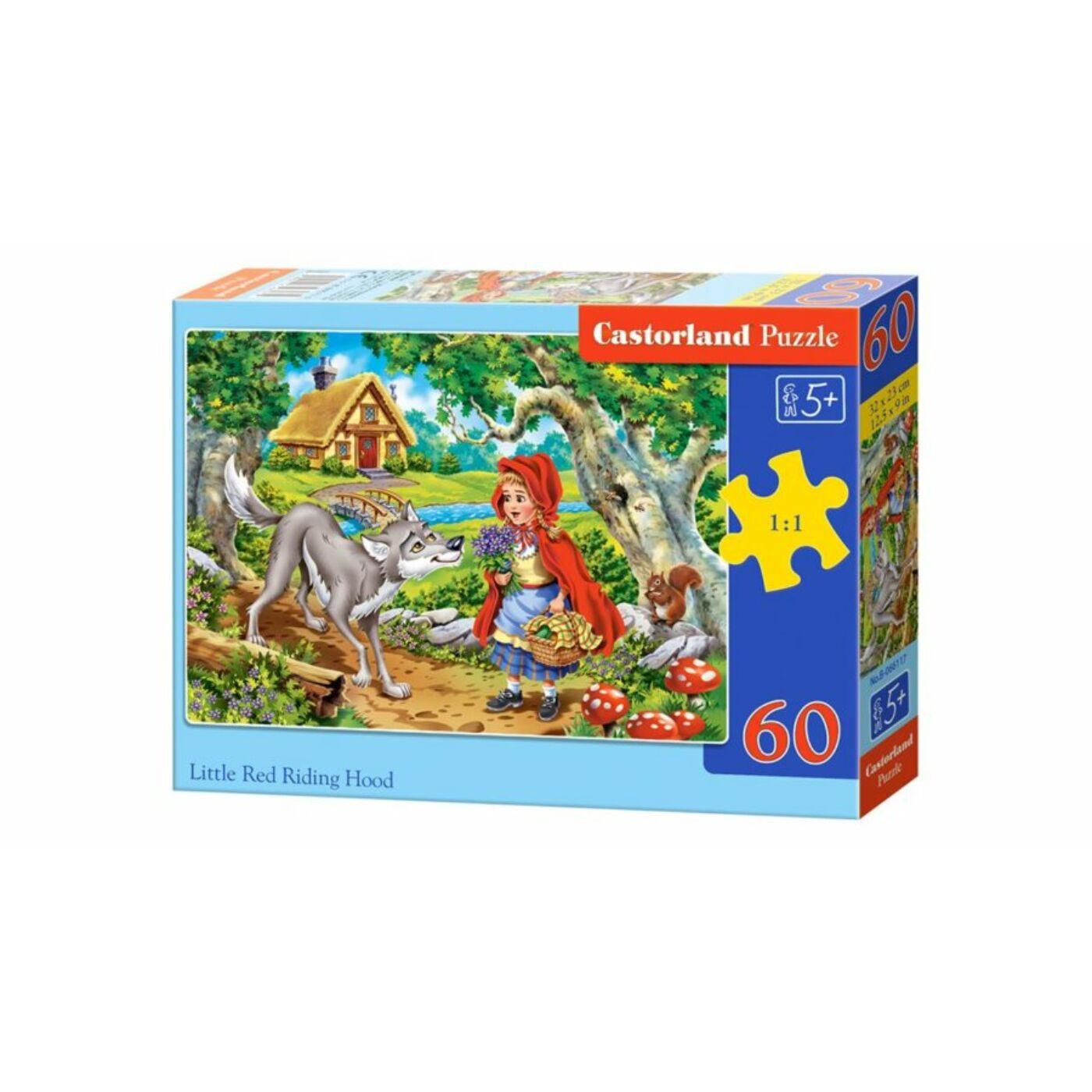 60 db-os Puzzle - Piroska és a farkas