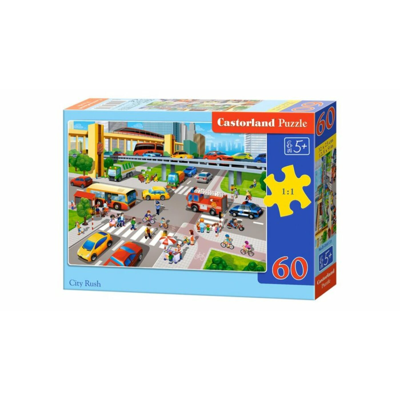 60 db-os Puzzle - Városi forgalom