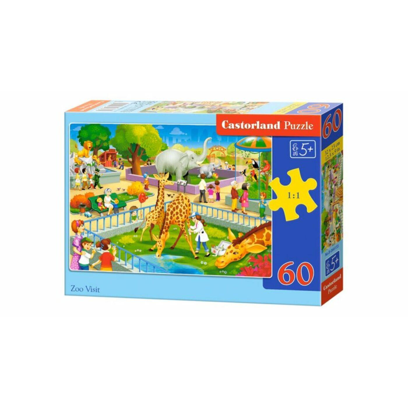 60 db-os Puzzle - Állatkerti látogatás