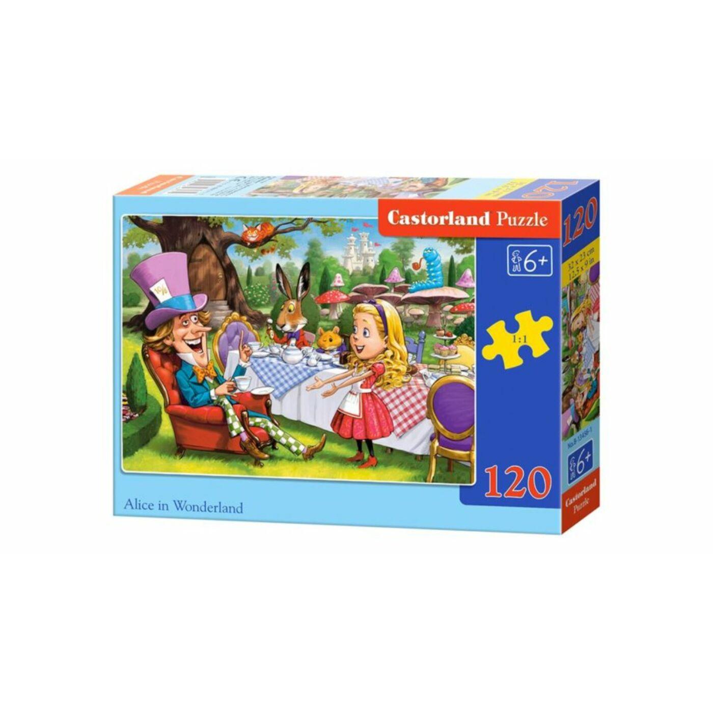 120 db-os Castorland puzzle - Alíz csodaországban