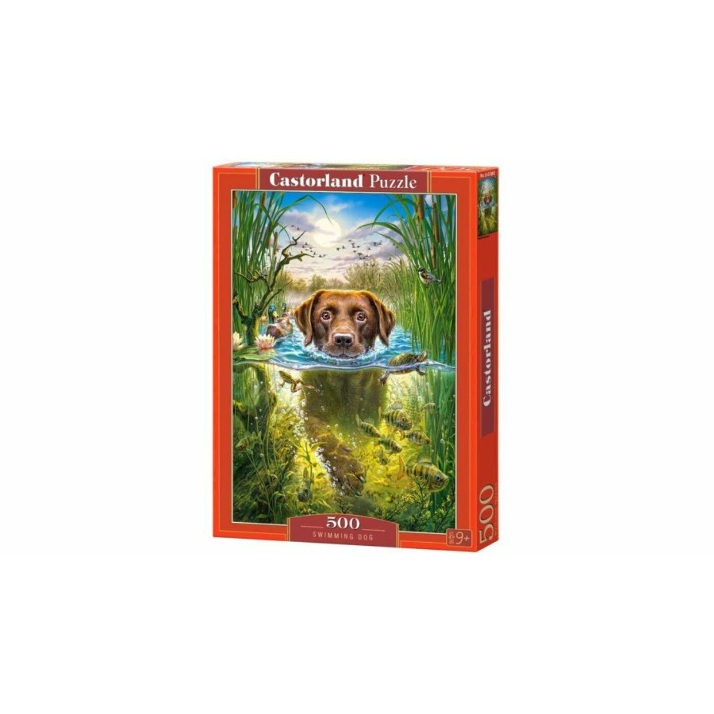 500 db-os puzzle - Úszó kutya