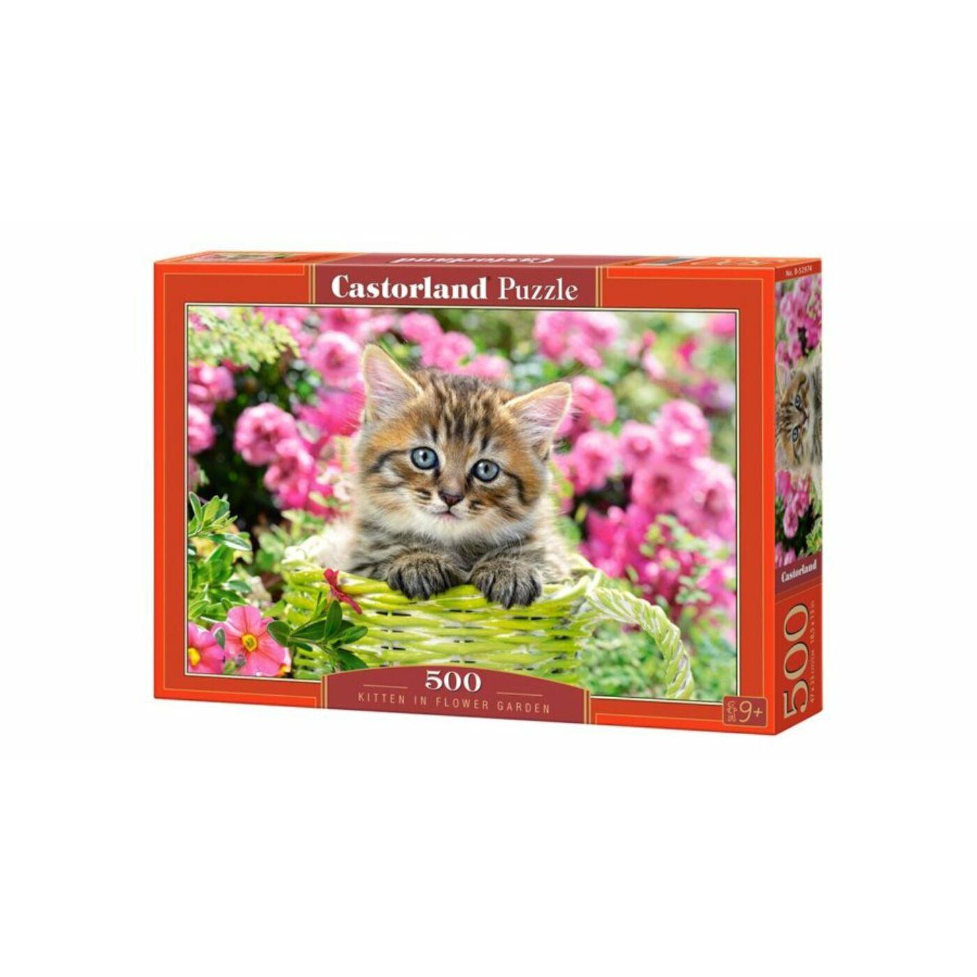 500 db-os puzzle - Macska a virágoskertben