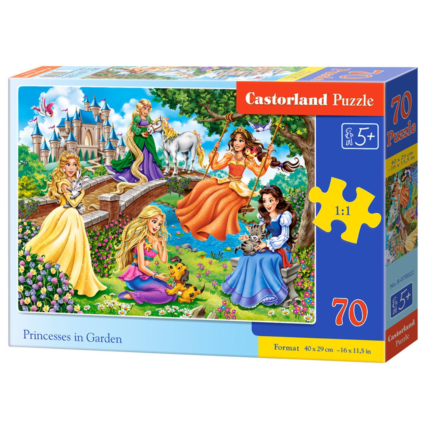 70 db-os puzzle - Hercegnők a kertben