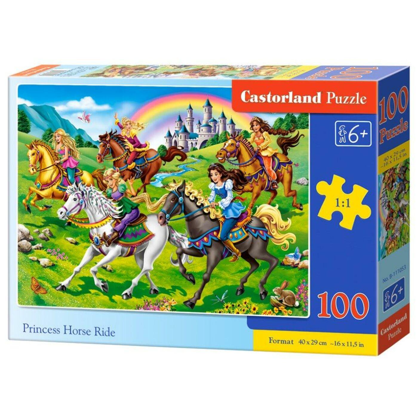 100 db-os Castorland puzzle - Hercegnők a lovon