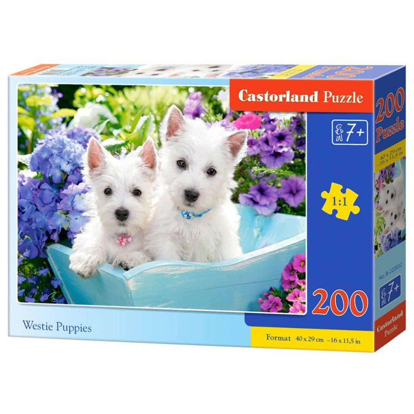 200 db-os puzzle - Westie kölykök