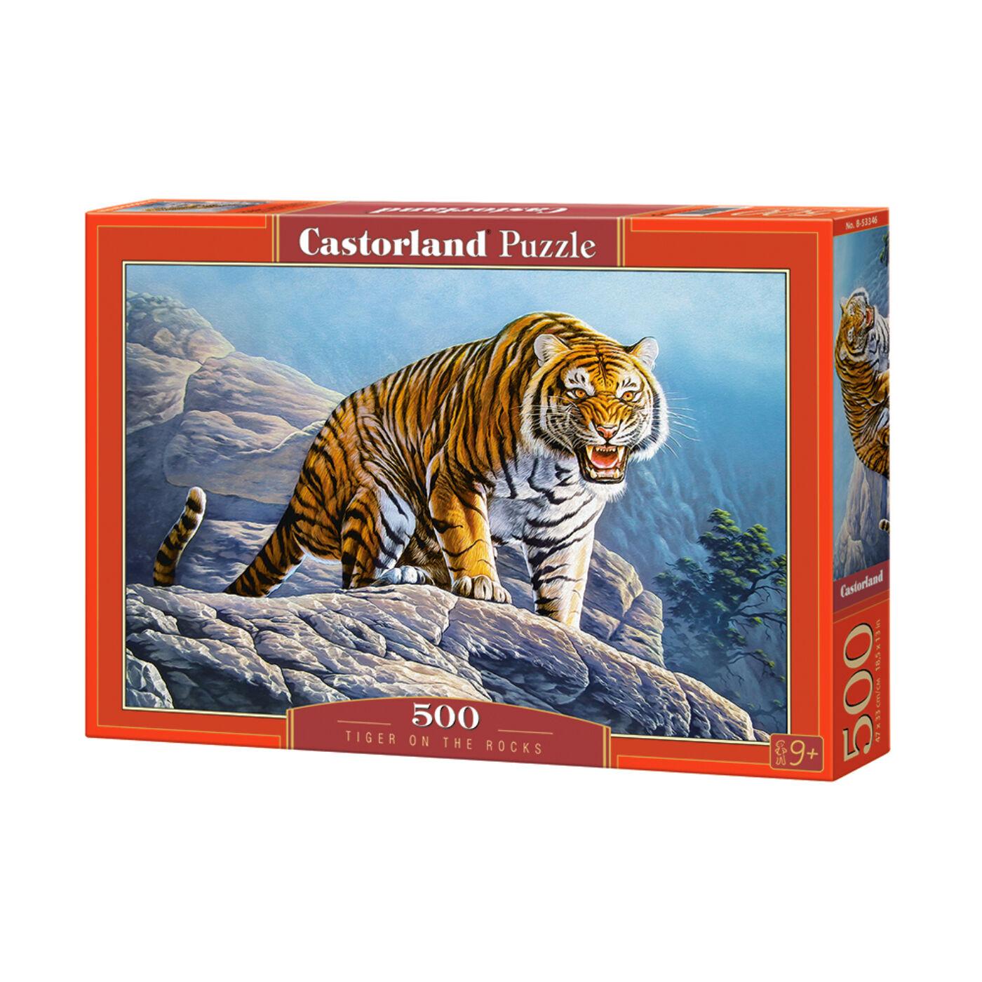 500 db-os puzzle - Tigris a sziklán