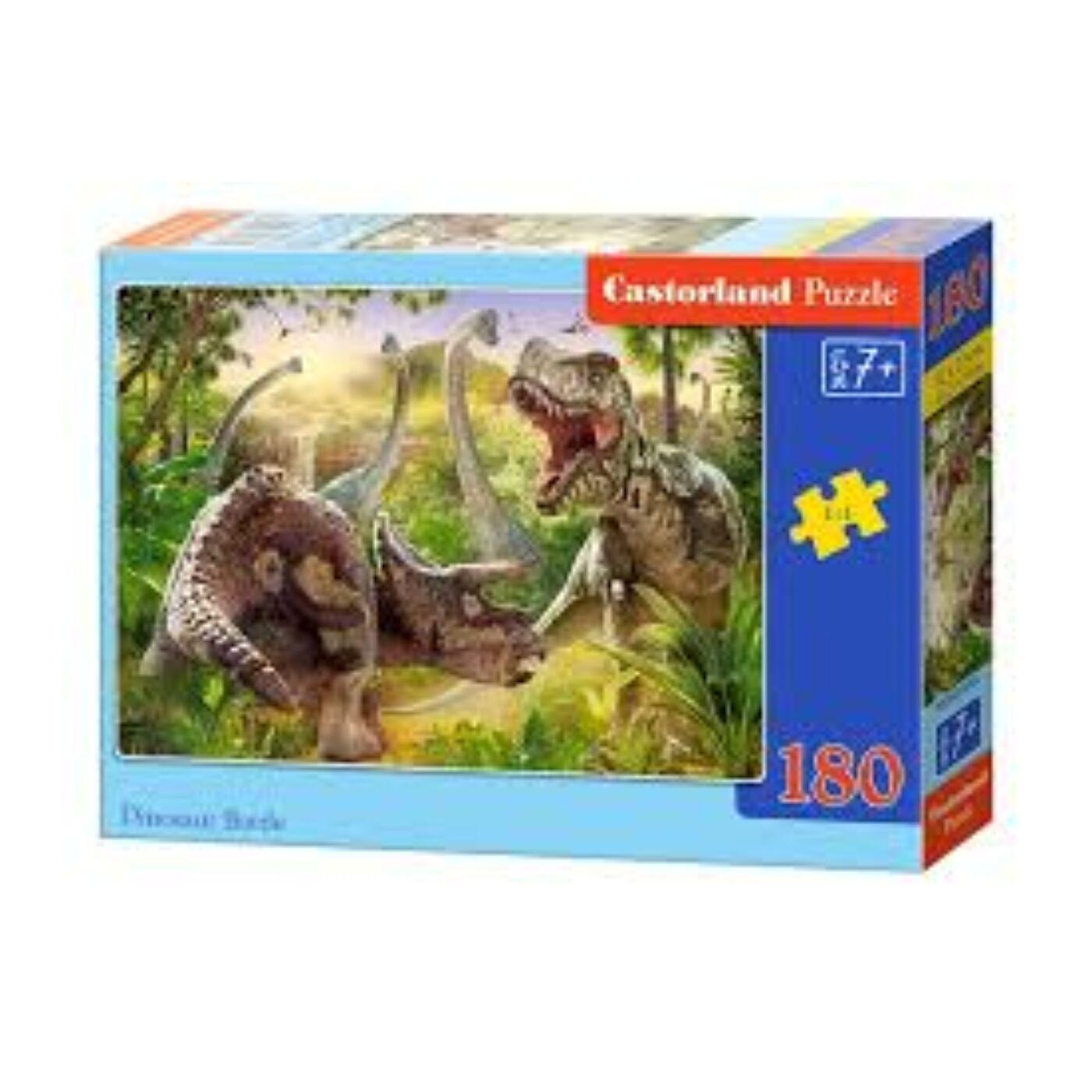 180 db-os Castorland puzzle - Dinoszaurusz csata