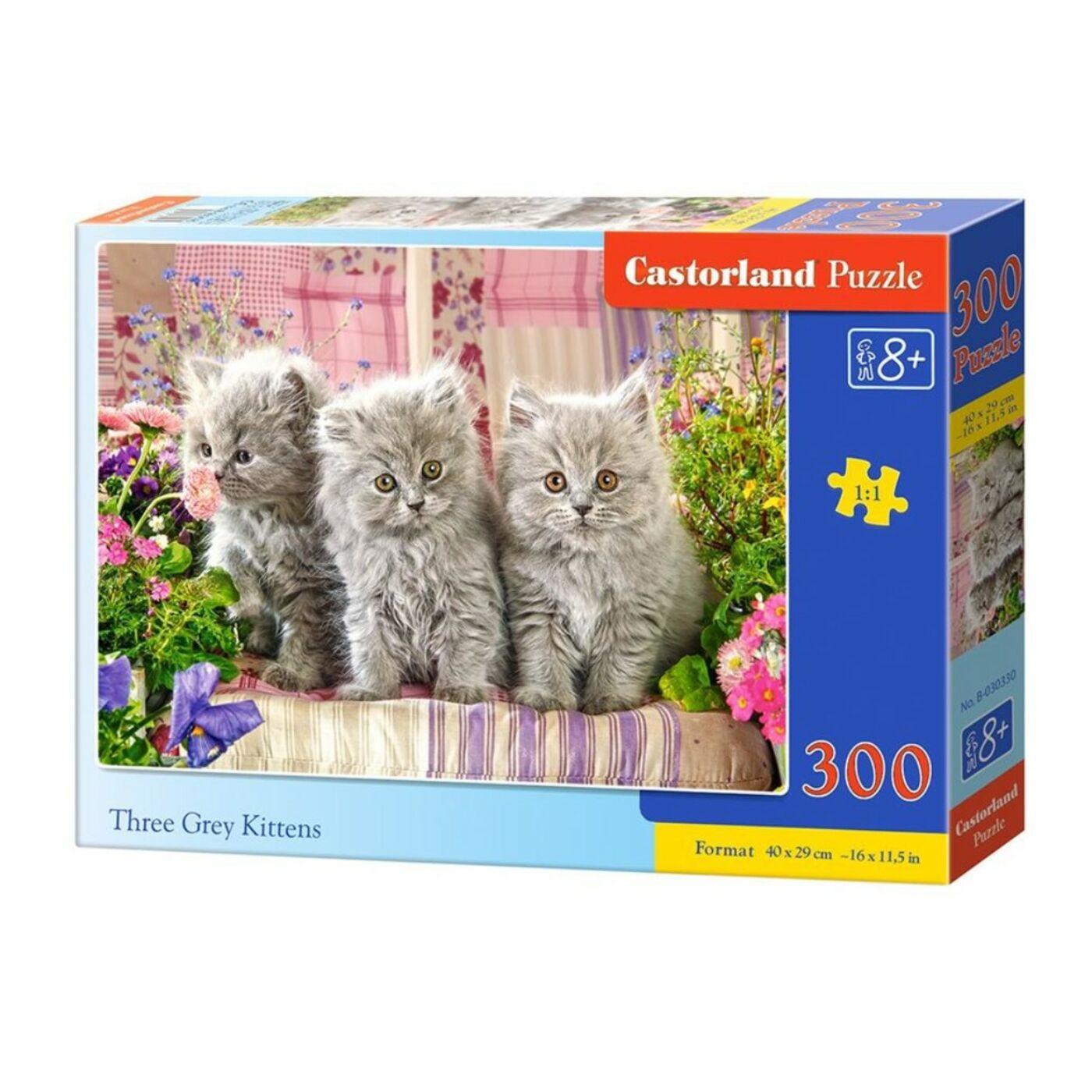 300 db-os kirakó - Három szürke kiscica