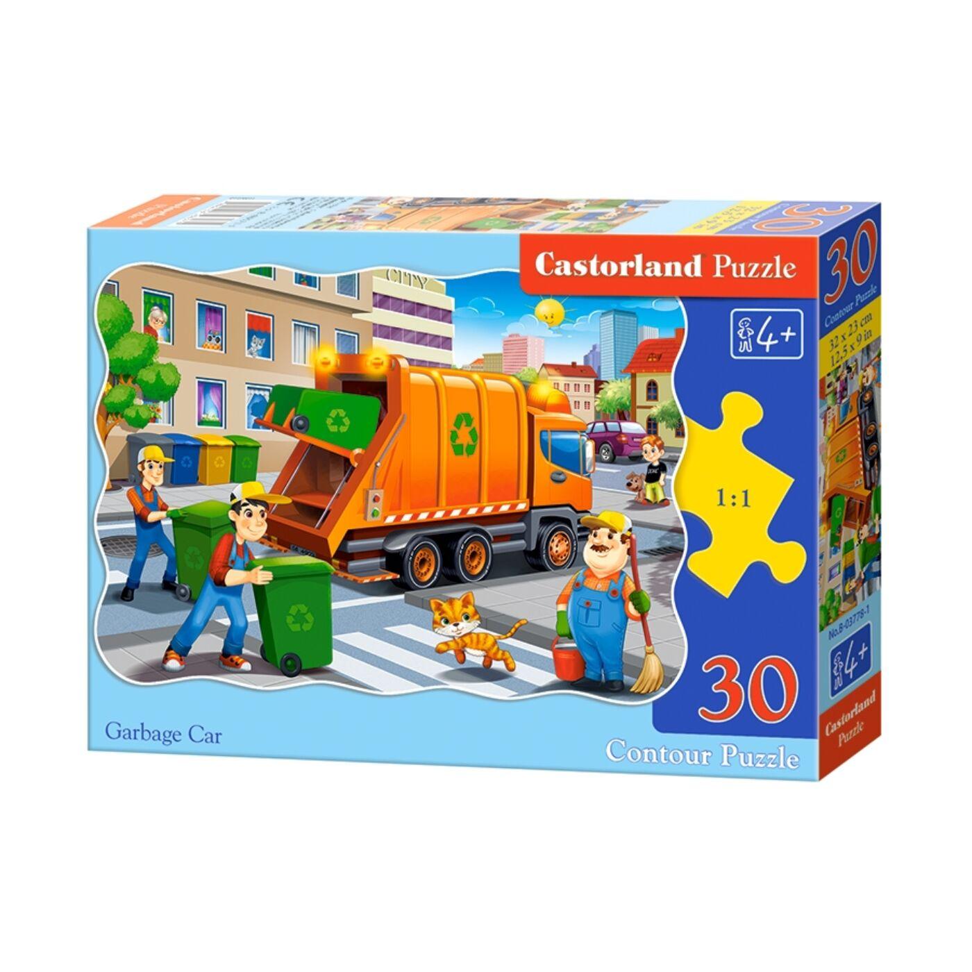 30 db-os puzzle - Szemetes autó