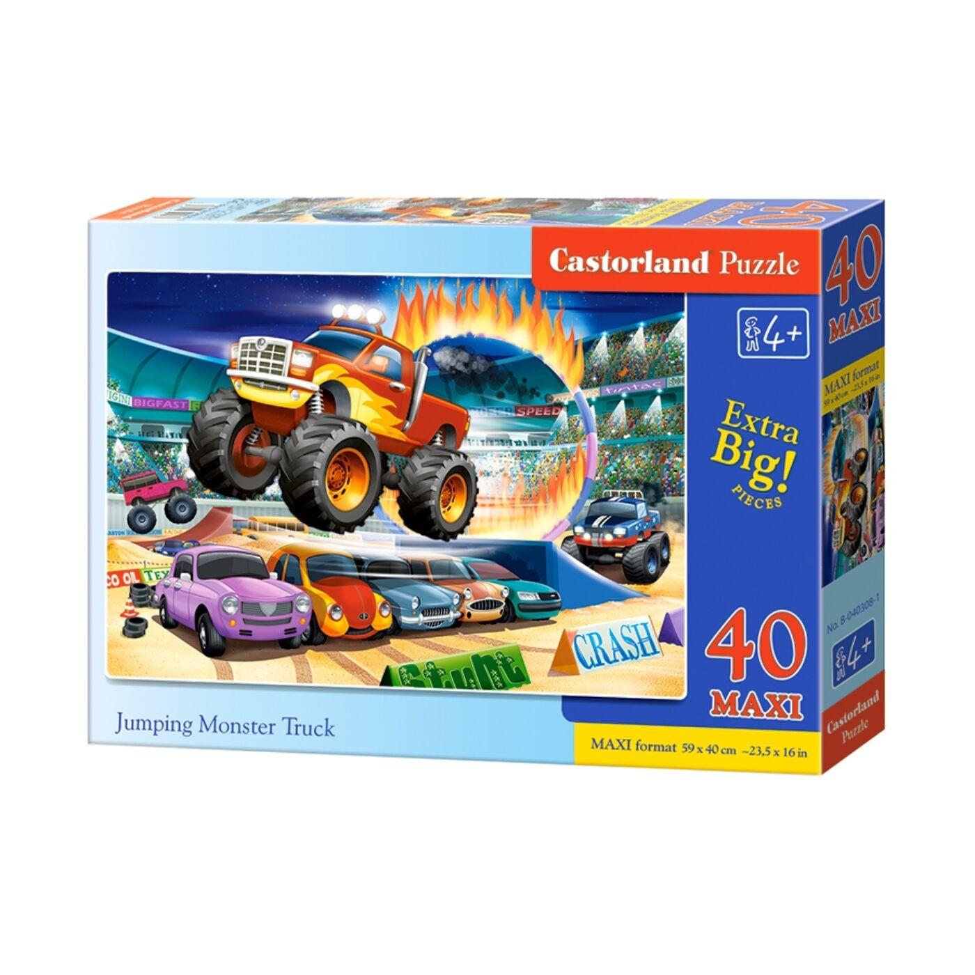 40 db-os Maxi puzzle – Ugró Monster truck